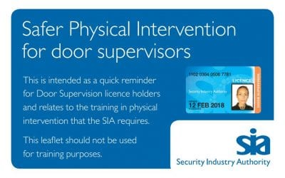 Security Company in Hull, Unisec Ltd, supports Safer Physical Intervention